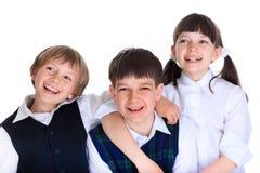 Écoliers heureux Images libres de droits