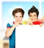 Écoliers heureux Images stock