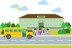 Écoliers heureux Photos stock