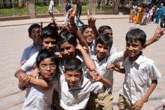 Écoliers indiens Photos libres de droits