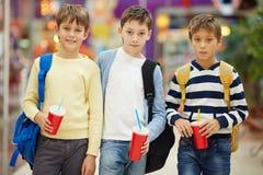 Écoliers modernes Photo stock