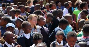 Écoliers multiraciaux en Afrique du Sud Photo stock
