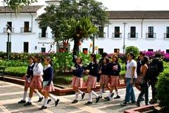Écoliers, Popayán, Colombie Images libres de droits