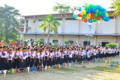Écoliers primaires de la Malaisie photo stock