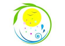 Écologie de logo Photos stock