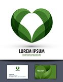 écologie Les feuilles sont en forme de coeur Logo, icône, Photographie stock libre de droits