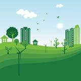 Écologie verte Photographie stock