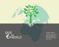 Écologique et sauvez le vert du monde Photos stock