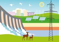 Écologiquement énergie propre Photographie stock