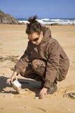 Écologiste dans l'action Images stock