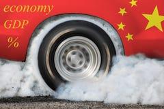 Économie croissante du ` s de la Chine décalant les tendances globalement photo libre de droits