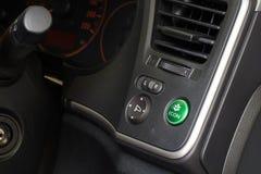 Économie d'énergie de voiture d'econ de bouton Images libres de droits