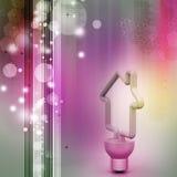 Économie d'énergie fluorescente Images libres de droits
