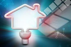 Économie d'énergie fluorescente Photo stock