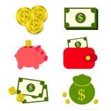 Économie d'argent et de pièce de monnaie Photos libres de droits