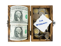 Économie d'argent pour la retraite Images stock