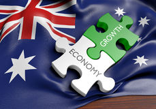 Économie d'Australie et concept de croissance de marché financier, rendu 3D illustration libre de droits