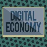 Économie de Digital des textes d'écriture de Word Le concept d'affaires pour se rapporte à un qui est basé sur des technologies i illustration de vecteur