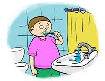 Économie de l'eau Image libre de droits