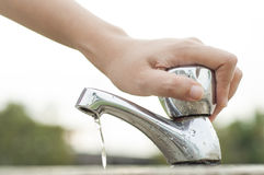 Économie de l'eau images libres de droits