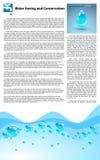 Économie de l'eau et calibre de conservation Photo stock