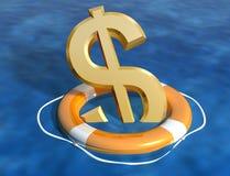 économie du dollar Images libres de droits