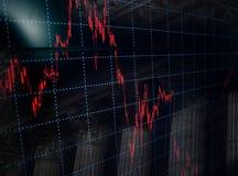 Économie et finances : Diagramme de graphiques de bourse des valeurs et un Silhoue Photos stock