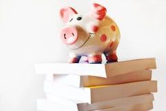 Économie et finances - l'épargne à une tirelire pour l'éducation et photographie stock