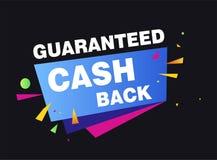 Économie garantie d'argent liquide de retour et retour de achat d'argent illustration de vecteur