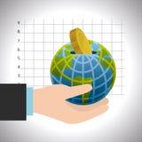 Économie globale, argent et affaires Photo libre de droits