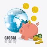 Économie globale, argent et affaires Photo stock