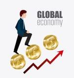 Économie globale, argent et affaires Images libres de droits