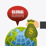 Économie globale, argent et affaires Images stock