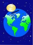 Économie mondiale en dollars illustration de vecteur