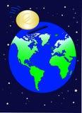 Économie mondiale en euro illustration libre de droits