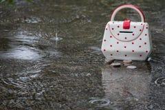 Économie pendant un jour pluvieux photo libre de droits
