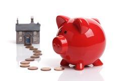 Économie pour acheter une maison Photographie stock libre de droits