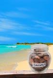 Économie pour des vacances rêveuses Image stock