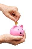 Économie pour le concept de retraite Photo libre de droits