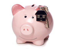 Économie pour votre première maison photo stock