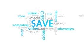 Économisez, animation de typographie illustration stock
