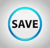 Économisez autour du bouton poussoir bleu illustration stock
