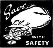 Économisez avec la sécurité illustration de vecteur