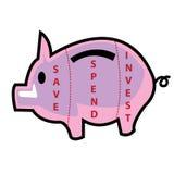 Économisez dépensent investissent Photographie stock libre de droits
