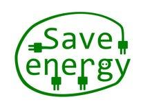 Économisez l'énergie. Image stock