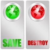 Économisez ou détruisez illustration libre de droits