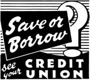 Économisez ou empruntez ? illustration stock