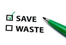 Économisez ou gaspillez photo libre de droits