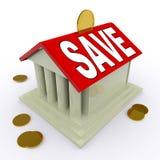 Économisez sur des moyens de Chambre s'enregistrant pour le dépôt ou la maison illustration libre de droits