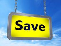 Économisez sur le panneau d'affichage illustration de vecteur